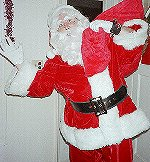 Santa Claus at Door